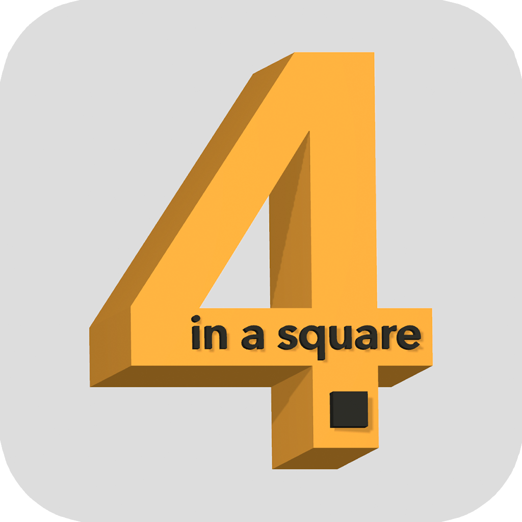 Four in a square - Connect 4 diehards 3D - icon